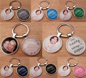 Personalised Photo Keyring Mammy Daddy Uncle Auntie Nana Grandma Mothers Day