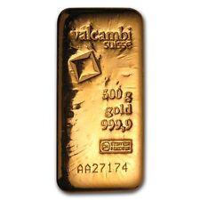 500 gram Gold Bar - Valcambi (Poured w/Assay) - SKU #83924
