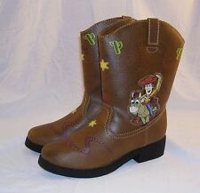 Disney Toy Story Woody Cowboy Boots Light Up Pixar Andy Bullseye Child 10T NEW