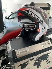 CASCO MOTO MODULARE FLIP UP MT HELMETS ATOM QUARK NERO ROSSO LUCIDO ECE DOT