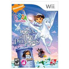 Wii Dora the Explorer Dora Saves the Snow Princess Replacement CASE -NO GAME