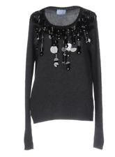 New! PRADA Cashmere Blend Sweater, Steel Grey, Size 40