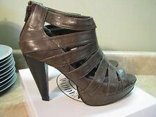 STEVE MADDEN GIRL Madra HIGH HEEL SHOES Gladiator Sandals DARK BROWN sz 9 M