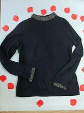 Warehouse Studded Black High Neck Long Sleeve Jumper 14