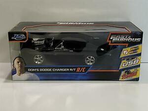 Fast and Furious Doms Dodge Charger r/T R/C 1:16 Scale Jada 97584