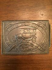 Henry Ford Detroit Model T Automobiles Belt Buckle Numbered