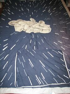 Pottery Barn Kids Star Wars Millenium Falcon Twin Quilt w Pillow Sham