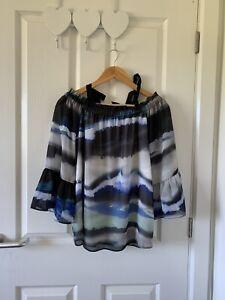 Ladies Size 14 Tie Dye Off The Shoulder Top Joanna Hope