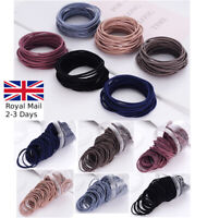 10/20/50 Stretchy Hair Bobbles Quality Girl's Hairbands Ponytail Thin Elastic