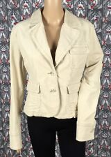 NWOT Plugg Women's Tan Two Buttons Front Corduroy Blazer Jacket Size Large