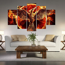 Abstract fire bird spray painting wall pictures for Room decoration canvas Print