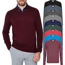 Mens Ex-Store Premium Jumper V Neck Cashmilon Soft Knit Sweater Pullover M-5XL
