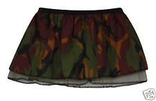 "Childrens 10"" Camo Combat Army Girl Tutu Dragons Den GI Book Week Fancy Dress UK"