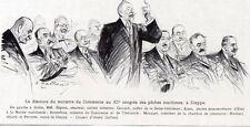 76 DIEPPE XI CONGRES PECHE MARITIME DISCOURS DE BONNEFOUS IMAGE 1929 OLD PRINT