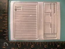 Identity Labels NIP Set of (2) Clear FONTWERKS Rubber Stamps