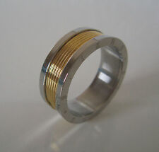 SUPERNOVA SCARVES Stainless Steel 2 Tone Gold Plated Scarf Ring Mod Scooter