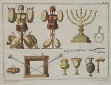 Israel jerusalén templo menora mira pan mesa trompeta armadura lanza casco arma