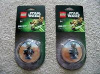 LEGO Star Wars - Rare - 2 Exclusive Boba Fett Magnet Packs 850643 - New & Sealed