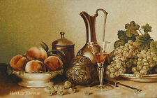 """37"""" JACQUARD WOVEN TAPESTRY Still Life with Wine EUROPEAN WALL DECOR - GRAPE"""