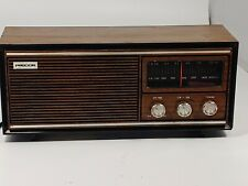 Precor 310 Vintage Am Fm Radio Art Deco Wood Grain Reciever Tested And Working