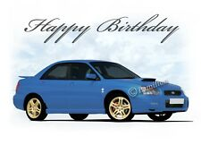 Subaru Impreza  18th 21st 40th 50th  Birthday Car Son Dad Greetings Card