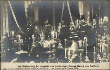 King Konigs Georg von Sachsen Aufbahrung Sr Majestat Real Photo Postcard