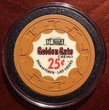 Golden Gate Casino Chip $.25 - Las Vegas - VERYRARE -1960's