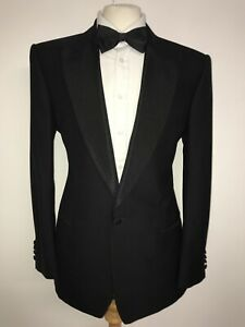 CHESTER BARRIE Savile Row - Mens WOOL DINNER SUIT - 42 Reg - W34 L31 - TUXEDO