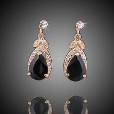 Fashion Crystal Gold Plated Red/Purple/Blue/Black Zircon Earrings Jewelry