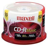 Maxell Cd-r Digital Audio Media - 700mb - 50 Pack (625156cdr80mu50pk)