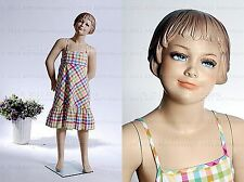 Child Mannequin standing happy girl doll hand made fiberglass manikin - Kris