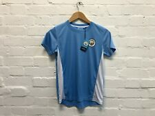 Manchester City FC Official Kid's Club Poly Panel T-Shirt - 10-11 Years - New