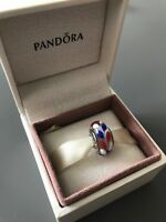 Red, White and Blue Genuine PANDORA murano charm