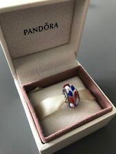 Red, White and Blue Genuine PANDORA murano charm