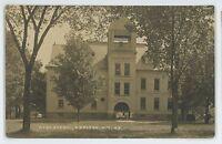RPPC High School ADDISON NY Steuben County New York Real Photo Postcard 2