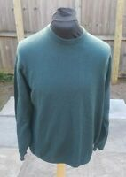 St Michael from Marks & Spencer Lambs Wool Jumper XL Crew Neck Green Vintage