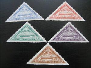 PARAGUAY Sc. #C74-C78 scarce mint Zeppelin stamp set! #2