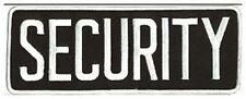 Large Security Back Patch Badge Emblem 11X4 White/black