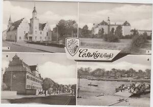 DDR AK Coswig / Anhalt ca.1966 ! mit Rathaus Schloss Sparkasse und Elbfähre !