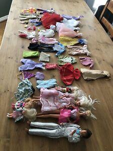 Vintage BARBIE Doll Lot of 6 Plus Accessories