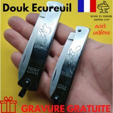 COUTEAU DOUK DOUK Ecureuil Chrome Acier Carbone Régional GRAVURE GRATUITE