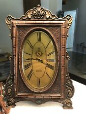 1928 Art Deluxe Lux Electric Clock Made Of Syroco Wood. Rare