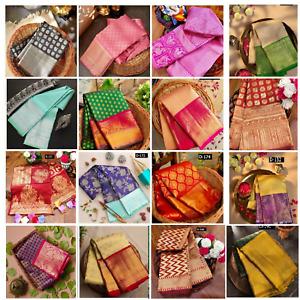 Indian Pakistani Stylish Designer Wedding Party Green Banarasi Cotton SIlk Saree
