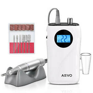 AEVO Portable Nail Drill Machine Professional Manicuring Rechargeable US Plug