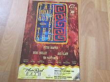 ROYAL Hunt of the SUN inc Peter SHAFFER 1989 Theatre Royal  BATH Original Poster
