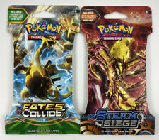 POKEMON TCG XY Fates Collide Blister & Steam Seige 10 cards *2pc*NEW