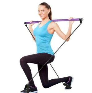 Yoga Pilates Stick Portable with Resistance Bands