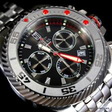 Invicta JT Jason Taylor Gearhead Stainless Steel Black 50mm Chrono LE Watch New