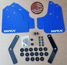 "[SR] 08-11 WRX & 2.5i Impreza Mud Flaps Set BLUE w/ Hardware Kit & ""WRX"" Vinyl"