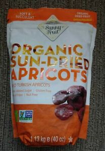 Sunny Fruit Organic Sun Dried Turkish Apricots Natural Juicy Tender 1.13kg Pack